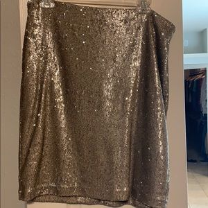 WHWM sequined skirt.